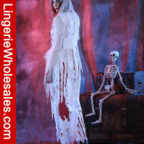 女性のゾンビの幻影の花嫁のデザインの凝った服のHalloween党Cosplayの衣裳