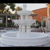 Fontana bianca Mf-764 di Carrara della fontana di pietra di marmo del granito