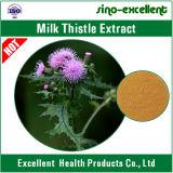 Extracto de la planta del cardo de leche (Silymarin 80%UV)
