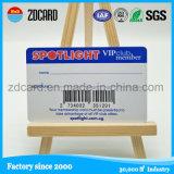 Carte d'adhésion promotionnelle de PVC de qualité