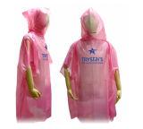 Heißes verkaufenPlasticf materielles Wegwerfregen-Mantel PET