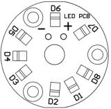 sistema ricaricabile dell'indicatore luminoso di illuminazione della lampada della batteria solare LED di 4PCS 1W