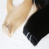 毛の拡張Remyのマレーシア人の毛の100%の人間の毛髪クリップ