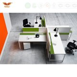 Module élevé en bois de partition de bureau moderne