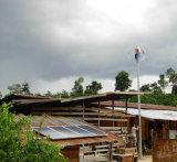 Minder 25dB 400W Generator en Zonnepaneel van de Wind van Maglev op het Dak