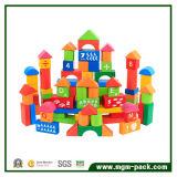 Оптовая популярная цветастая деревянная игрушка строительного блока