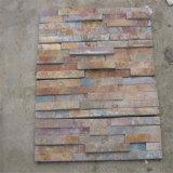 Pierre décorative extérieure de mur de pierre culturelle rouillée normale d'ardoise