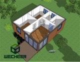 Cer bewegliches Behälter-Diplomhaus/Felsen-Wolle-Zwischenlage-Panel-Behälter-Haus