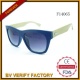 F14065 New Customed Sunglass com Bamboo Arms