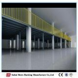 강철 구조물 창고 그림은, 산업 유리 사슬 저장 중이층을 선반에 얹는다