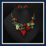 New Item Epoxy Leaves Earring Necklace Fashion Jewelry Set