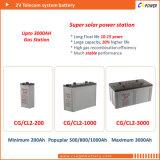 Cspower 2V600ah 태양 에너지 시스템, 중국 공급자를 위한 깊은 주기 젤 건전지