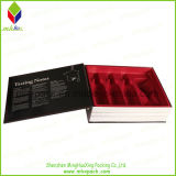 Neues Arrival Folding Magnet Wine Box mit Velvet Insert Tray