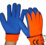 Nmsafety теплый флис подкладке Латекс Рабочие перчатки