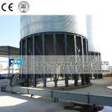 China-Weizen-Kleie-flache Unterseiten-Stahlsilo-Hersteller