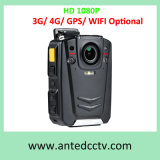 Appareil-photo usé par corps visuel de police de HD 1080P facultatif avec le WiFi de 3G 4G GPS