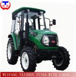 Doppelventilkegel Shift 80HP Farm Tractor 4WD mit Cabin (TT804)