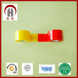 Cinta de PVC eléctrica colorida superficial brillante del pegamento