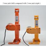 3 톤은 전기 전기 충격 토크 렌치를 가진 드는 잭을 가위로 자른다