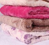 2017 resorte y franela del color sólido de la costura del otoño que acolcha más la manta de la tela de algodón