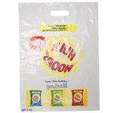 Las cuatro bolsas de plástico impresas color para las compras (FLD-8590)