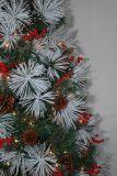 Рождественская елка реалиста искусственная с украшением цвета СИД света шнура Multi (7SXA)