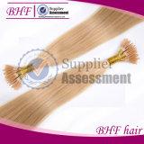 """24の""""インチのケラチンUの先端のブラジルの毛0.5グラム各繊維の釘の先端の融合の人間の毛髪の拡張前に担保付きのまっすぐなバージンの毛"""