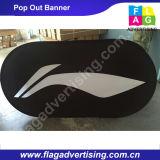 La fabbrica di tessuto ovale su ordinazione schiocca in su la bandiera per l'evento o la mostra
