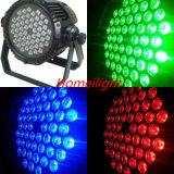 6PCS/54 X 3W RGBW Waterproof BY Light for Club Party Lamp Disco musics Music Light Party