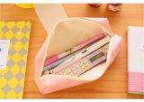 Cassa di matita del banco del cuoio dello Snap-Fastener di colore/cancelleria pure Coreano del sacchetto