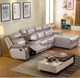 [ل] شكل [ركلينر] أريكة, حديثة جلد أريكة, يعيش غرفة أثاث لازم ([غ379])