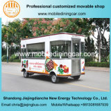 Carro móvil hermoso de los alimentos de preparación rápida de Elelctric de cuatro ruedas con Ce