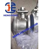 Vávula de bola neumática inoxidable de la oblea Steel/304 de DIN/API