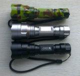 セリウムRoHSが付いているクリー語Q5 5W Highlight長いRange LED Flashlight