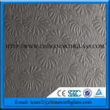Nova tecnologia 12mm Tempered Acid Etched Pattern Glass