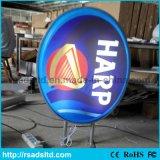 Caixa de luz de sucção LED de forma oval acrílica personalizada