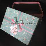 Caixa de presente ajustada do cartão do PCS da alta qualidade 3 com Bowknot