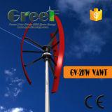 2kw niedrige U/Min vertikale Mittellinien-Wind-Turbine mit Cer