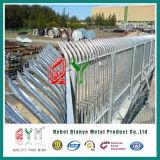 Frontière de sécurité en acier galvanisée de palissade de frontière de sécurité enduite par poudre en gros