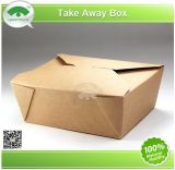 Kraft e White Paperboard Take Away Box
