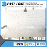 Bancadas artificiais personalizadas da pedra de quartzo da cor branca de Cararra