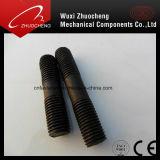 Boulons de vis de goujon d'acier inoxydable avec la noix Hex DIN975 DIN976