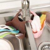 Хранение ванны корзины мешка стока однослойной кухни вися оборудует держатель раковины, корзину пластмассы мытья просевателя