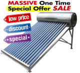 Chauffe-eau solaire à énergie solaire pressurisé élevé de caloduc d'acier inoxydable