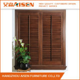 Obturateur personnalisé de plantation de Basswood de Brown pour Windows