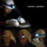 IP Sensor Headlamp (POPPAS-T101) de 3LED Brighter Plastic Induction DEL