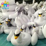 PVC пляжа парка воды плавательного бассеина Finego раздувной плавает белый лебедь Gloden черный