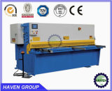 Machine hydraulique QC12y-10X2500 de cisaillement et de découpage de faisceau d'oscillation