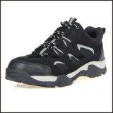 Zapatos de seguridad de trabajo de la ingeniería ligera del cuero genuino