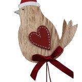 Ornamento de suspensão do Natal de madeira para a decoração do Natal, burro 2